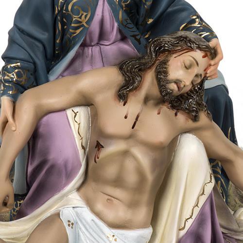 Pietà 50 cm pasta di legno dec. elegante 2