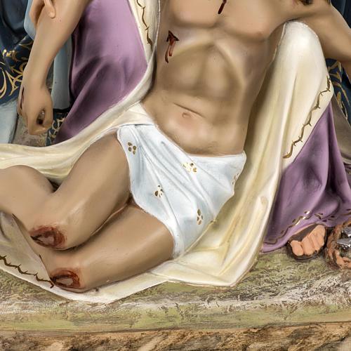 Pietà 50 cm pasta di legno dec. elegante 3
