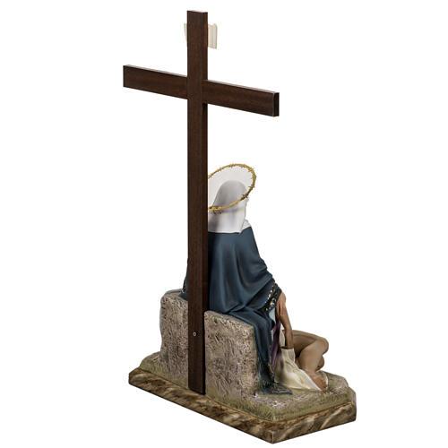 Pietà 50 cm pasta di legno dec. elegante 11