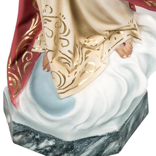 Sacred Heart of Jesus statue 80cm in wood paste, elegant decorat 3