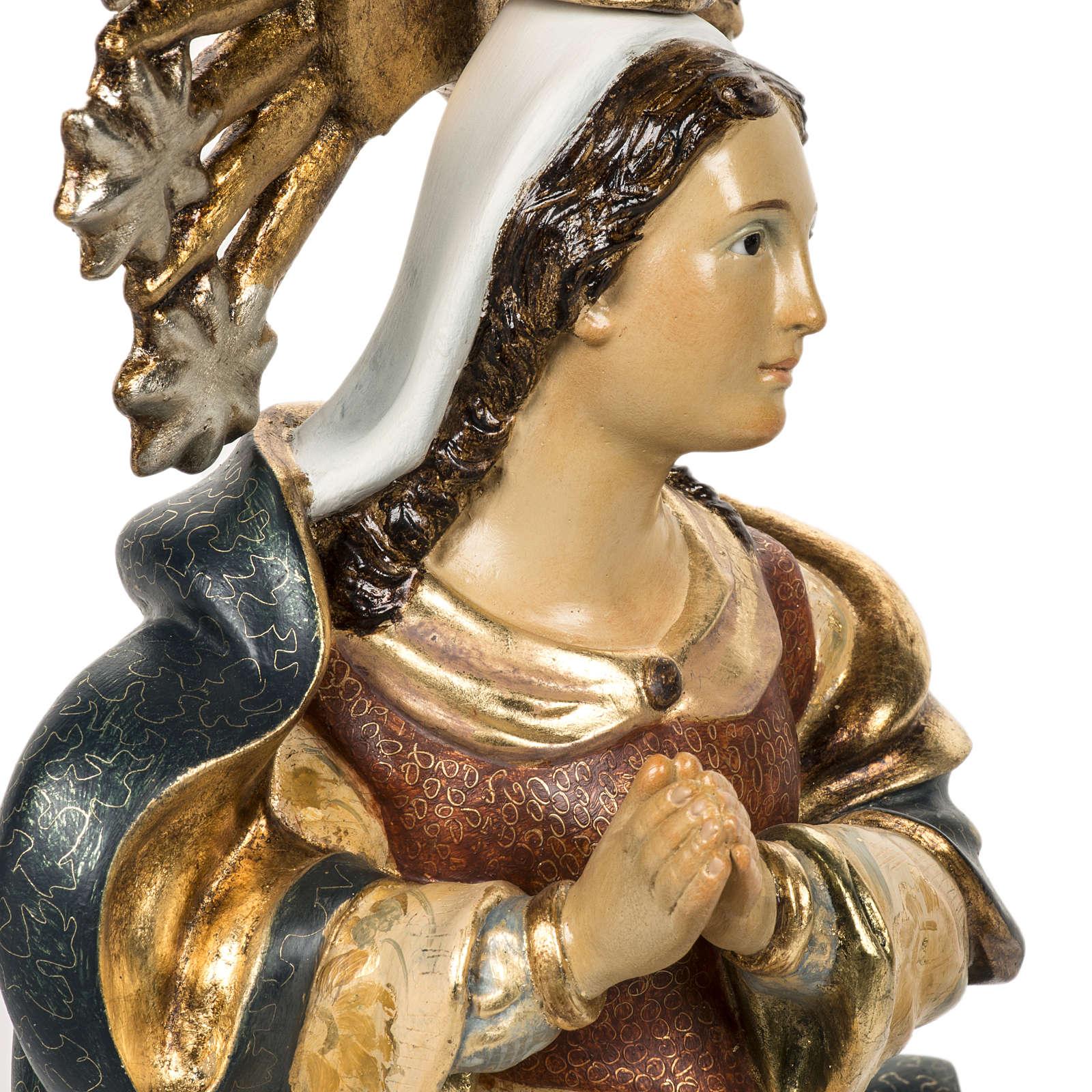 Statua Purissima Concezione 50 cm pasta di legno fin extra 4