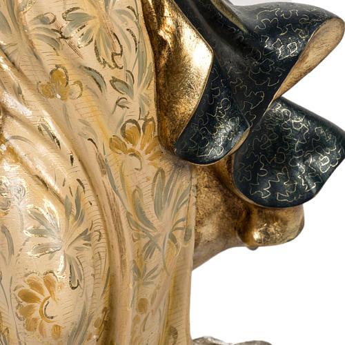 Statua Purissima Concezione 50 cm pasta di legno fin extra 5