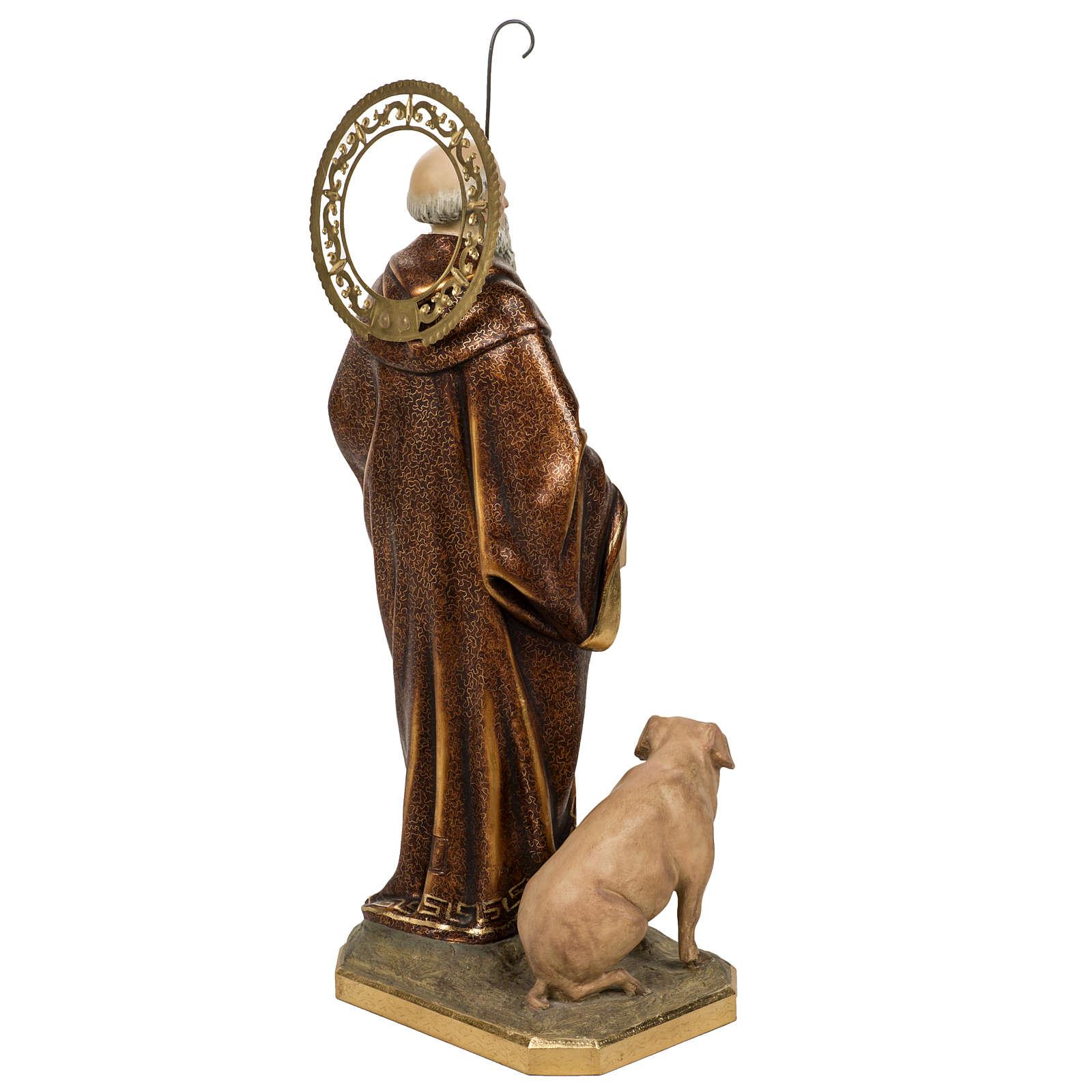 Sant'Antonio Abate 60 cm pasta di legno finitura extra 4