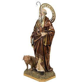 Sant'Antonio Abate 60 cm pasta di legno finitura extra s6