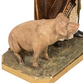 Sant'Antonio Abate 60 cm pasta di legno finitura extra s8