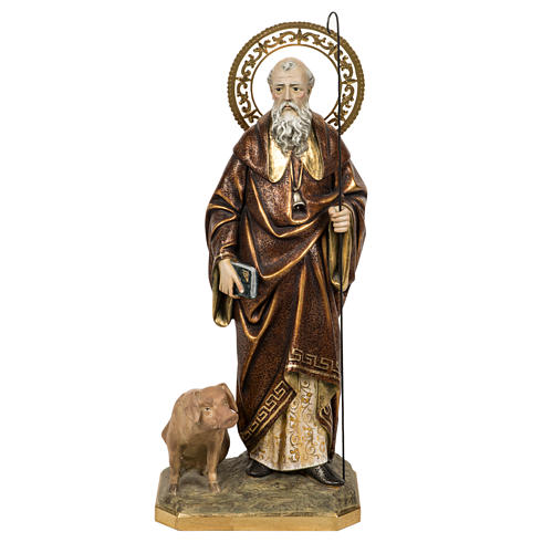 Sant'Antonio Abate 60 cm pasta di legno finitura extra 1