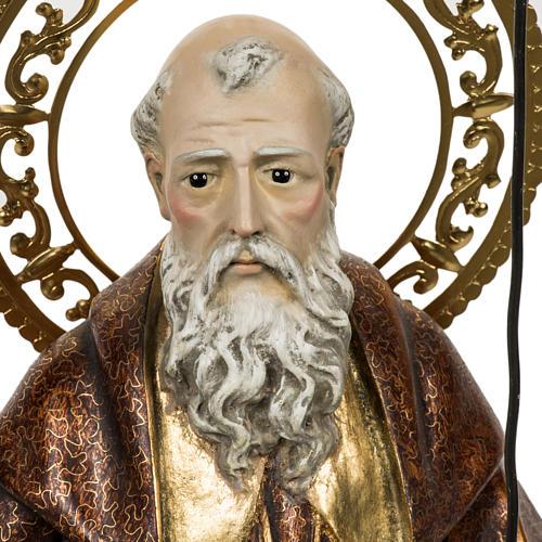 Sant'Antonio Abate 60 cm pasta di legno finitura extra 2