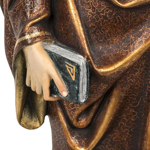 Sant'Antonio Abate 60 cm pasta di legno finitura extra 3