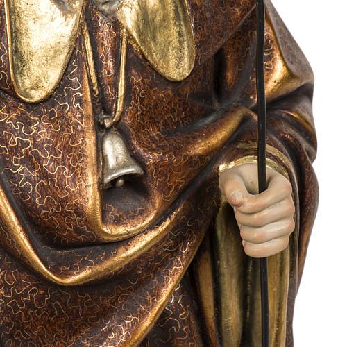 Sant'Antonio Abate 60 cm pasta di legno finitura extra 5