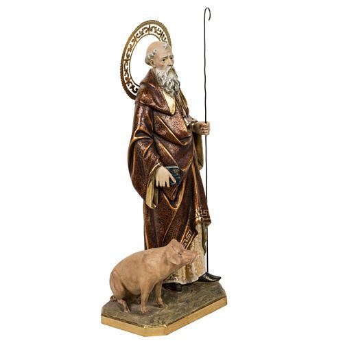 Sant'Antonio Abate 60 cm pasta di legno finitura extra 7