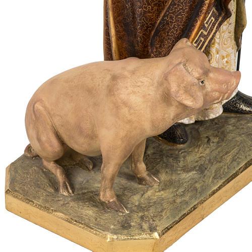 Sant'Antonio Abate 60 cm pasta di legno finitura extra 8