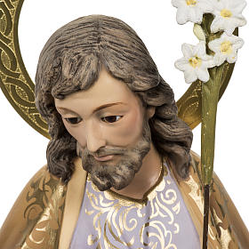 Saint Joseph with baby statue 60cm in wood paste, elegant finish s2