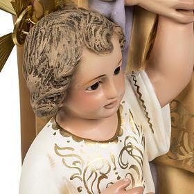 Saint Joseph with baby statue 60cm in wood paste, elegant finish s6