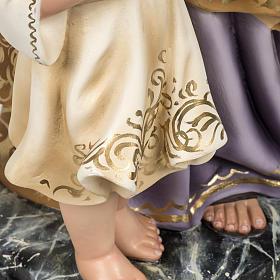 Saint Joseph with baby statue 60cm in wood paste, elegant finish s7