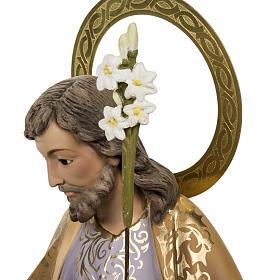 Saint Joseph with baby statue 60cm in wood paste, elegant finish s10
