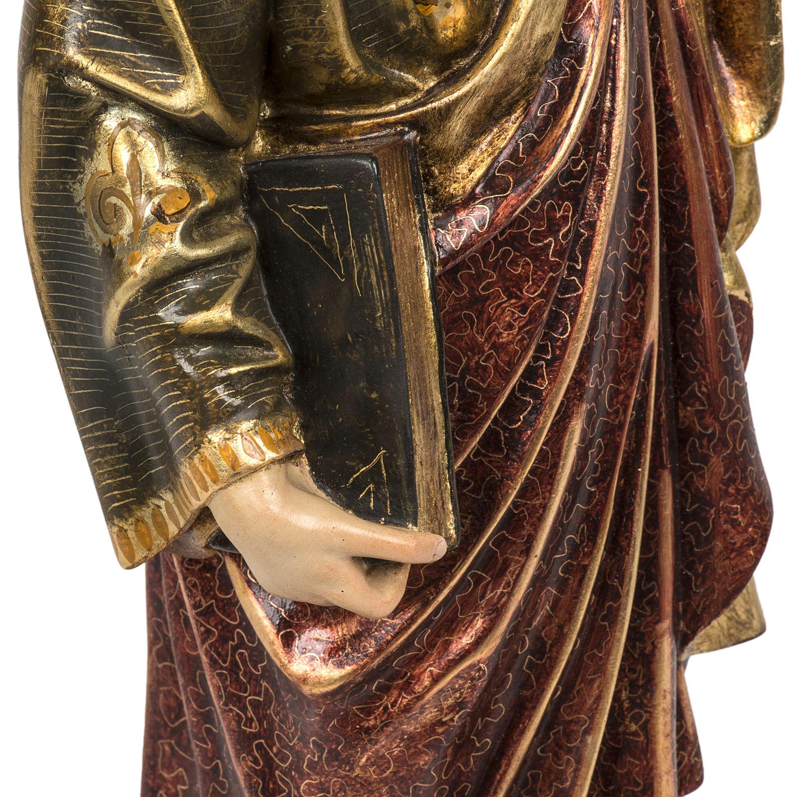 Saint Peter statue 60cm in wood paste, extra finish 4