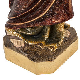 Saint Peter statue 60cm in wood paste, extra finish s4