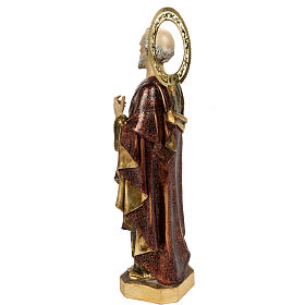 Saint Peter statue 60cm in wood paste, extra finish s7