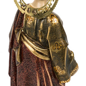 Saint Peter statue 60cm in wood paste, extra finish s8