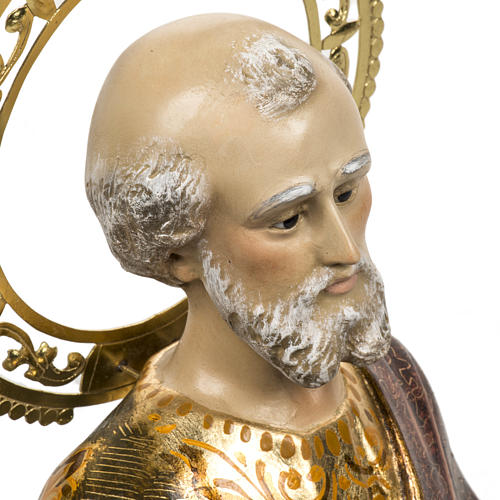 Saint Peter statue 60cm in wood paste, extra finish 2