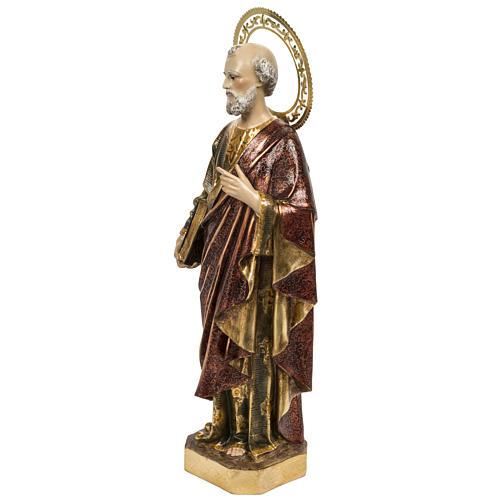 Saint Peter statue 60cm in wood paste, extra finish 6