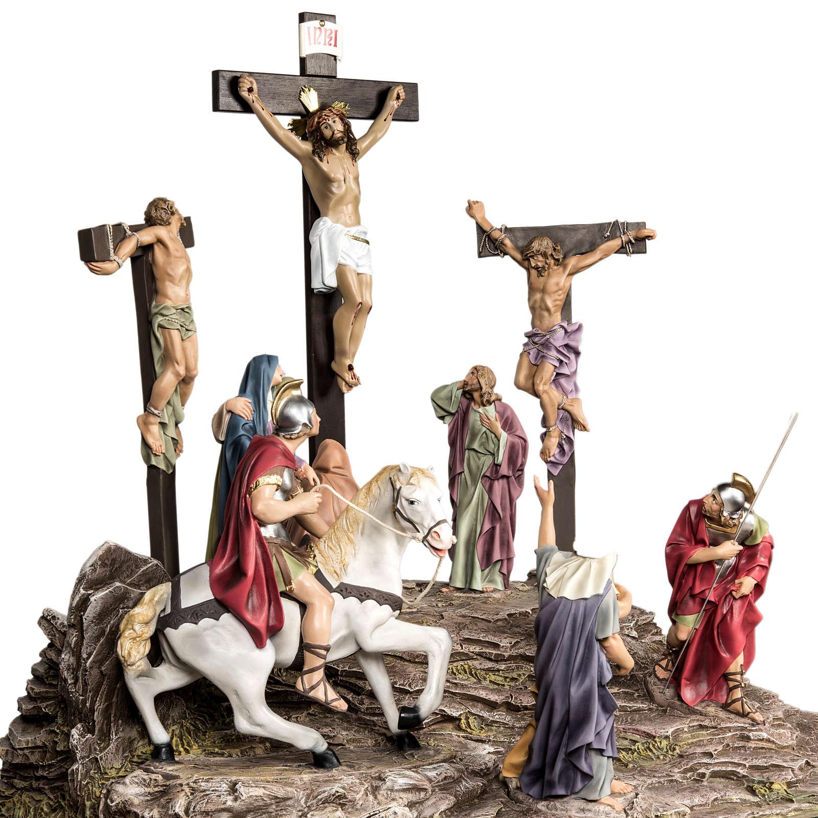 Calvaire statues de 30 cm pâte à bois 4