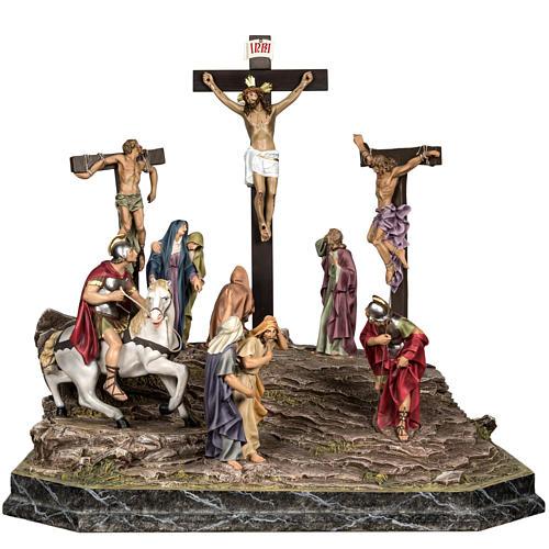 Calvaire statues de 30 cm pâte à bois 1