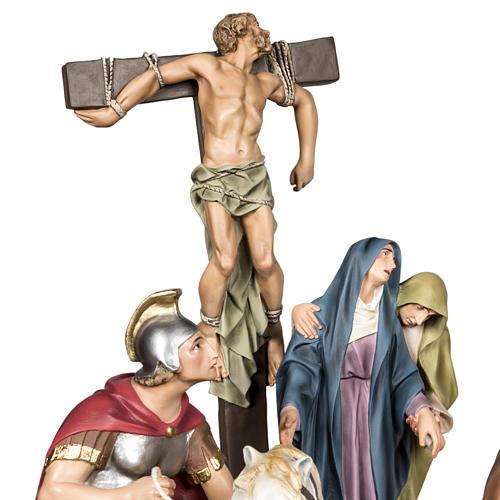 Calvaire statues de 30 cm pâte à bois 3