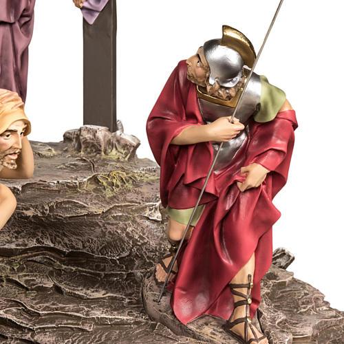 Calvaire statues de 30 cm pâte à bois 7