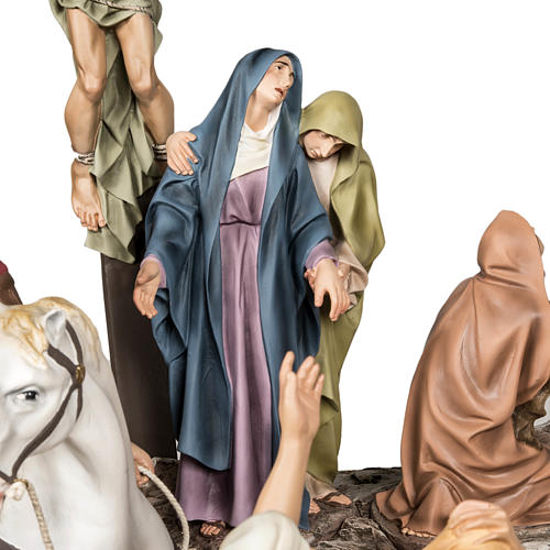 Calvaire statues de 30 cm pâte à bois 8