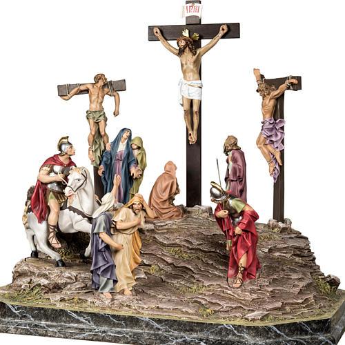 Calvaire statues de 30 cm pâte à bois 10