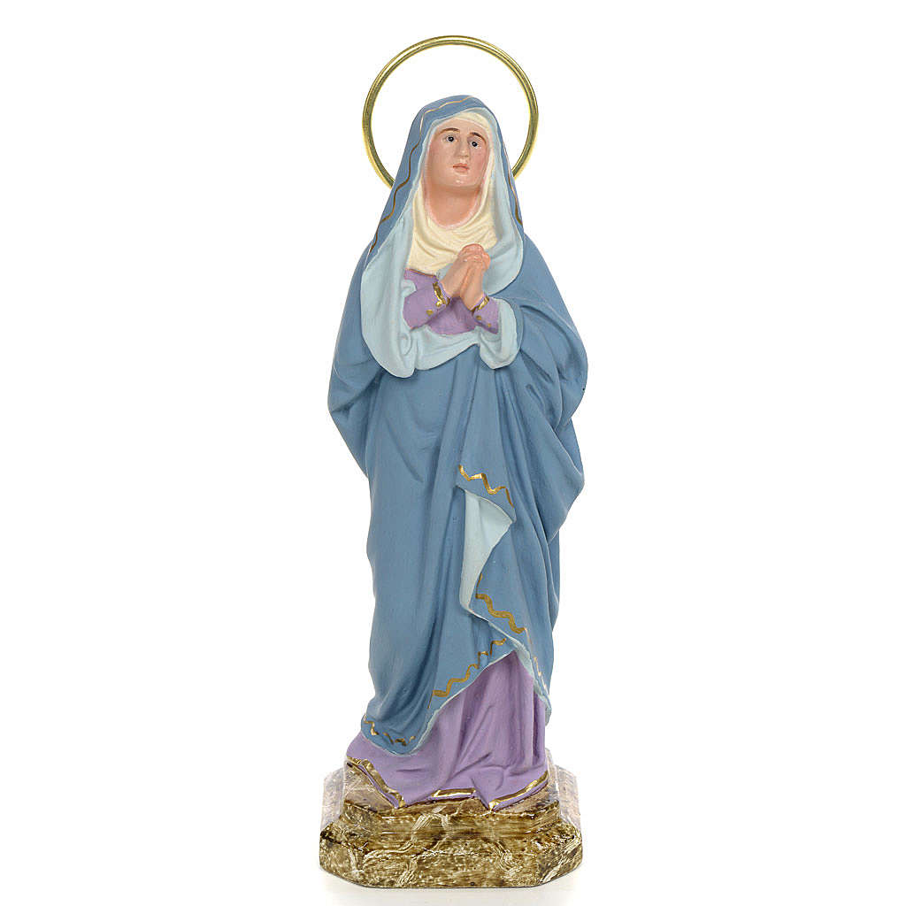 Virgen Dolores 20 cm pasta de madera. económica 4