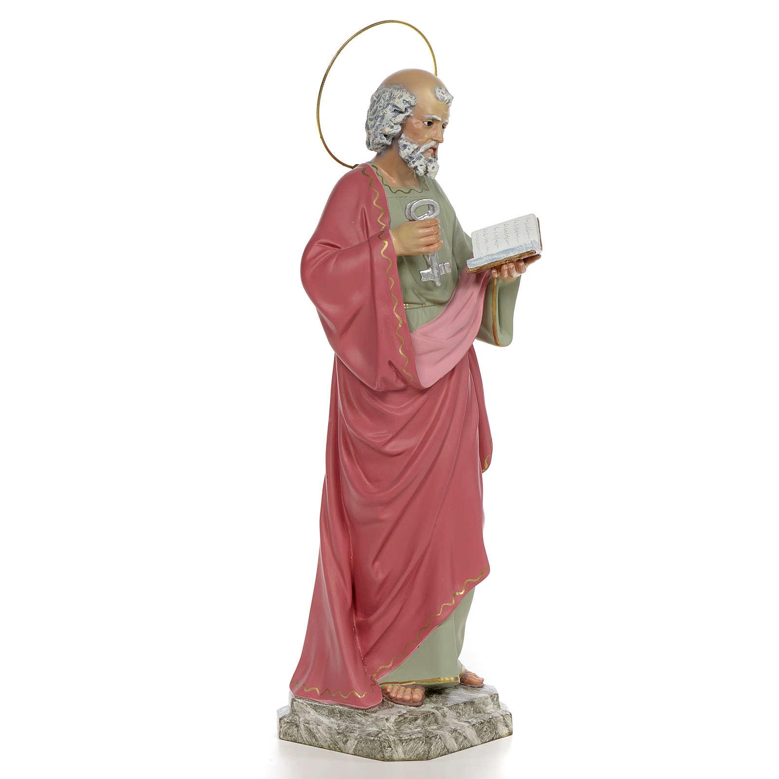 San Pietro Apostolo 50 cm pasta di legno dec. fine 4