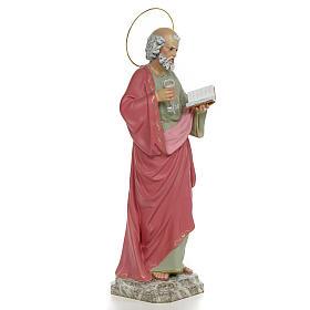 San Pietro Apostolo 50 cm pasta di legno dec. fine s4