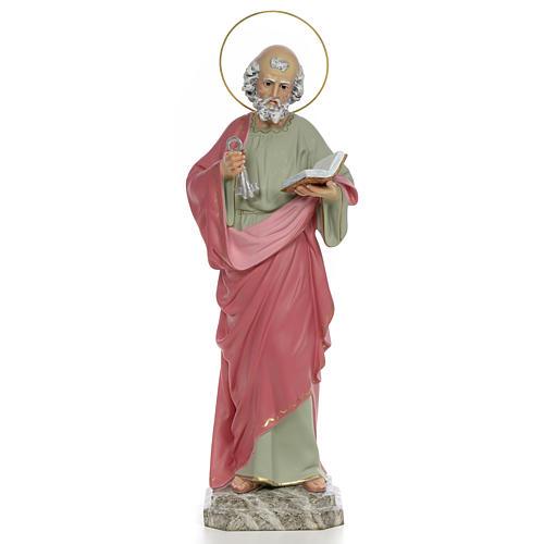 San Pietro Apostolo 50 cm pasta di legno dec. fine 1