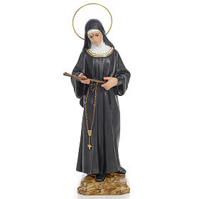 Hand painted wooden statues: Saint Rita Statue in wood paste, 30 cm