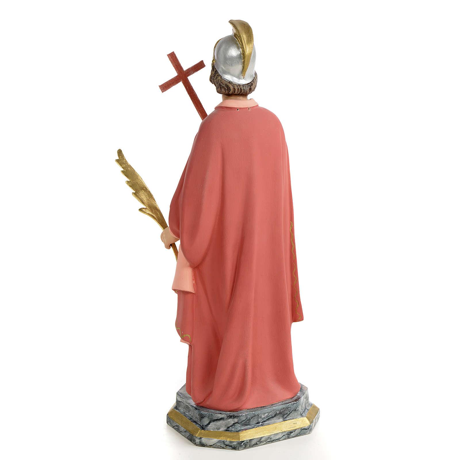 Saint Expedite of Melitene Statue in wood paste, 30 cm 4