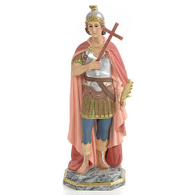 Hand painted wooden statues: Saint Expedite of Melitene Statue in wood paste, 30 cm