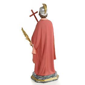 Saint Expedite of Melitene Statue in wood paste, 30 cm s3