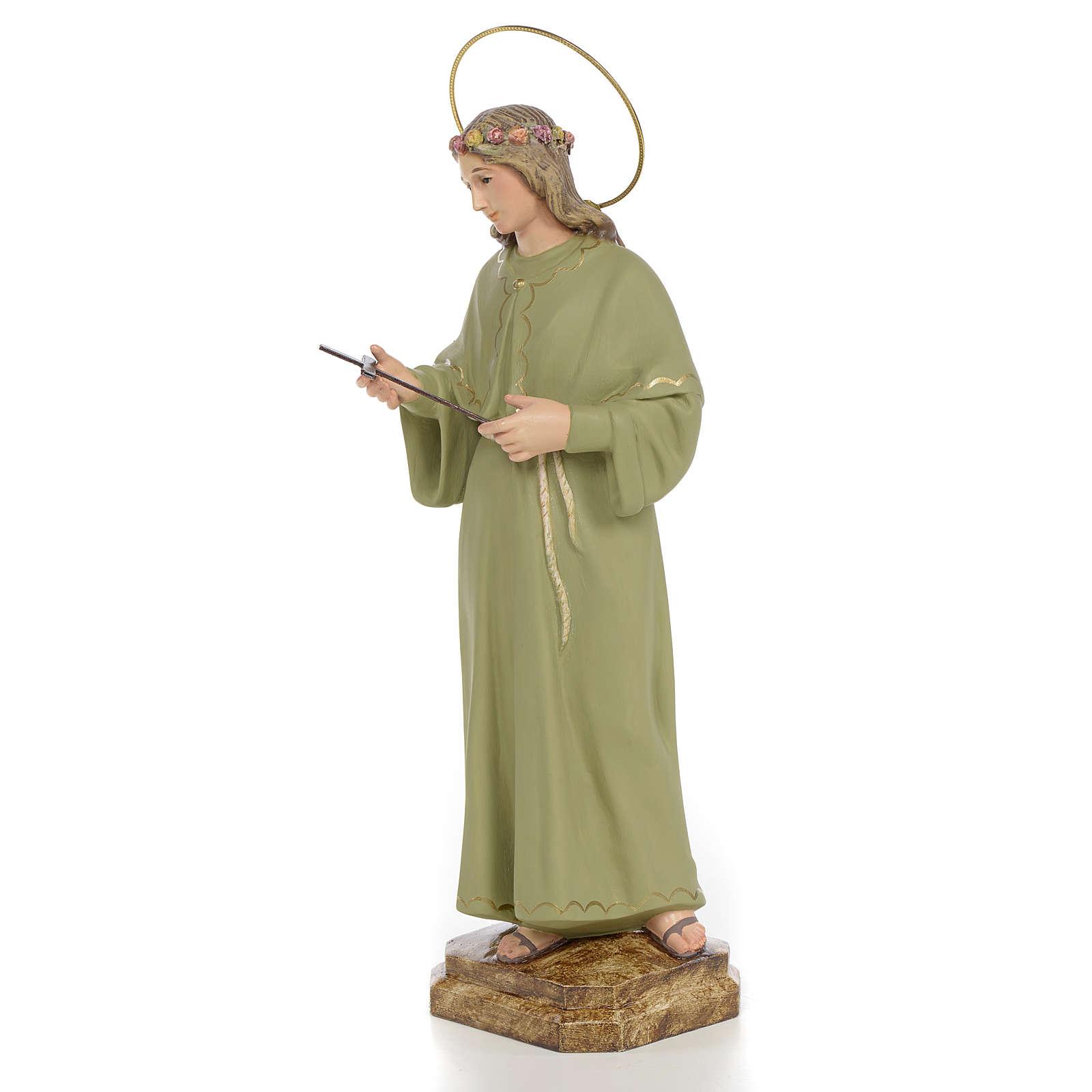 Santa Rosalia 40 cm pasta di legno dec. fine 4