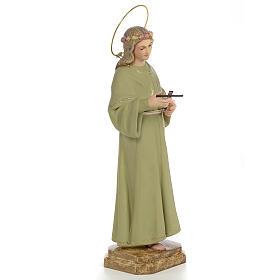 Santa Rosalia 40 cm pasta di legno dec. fine s4