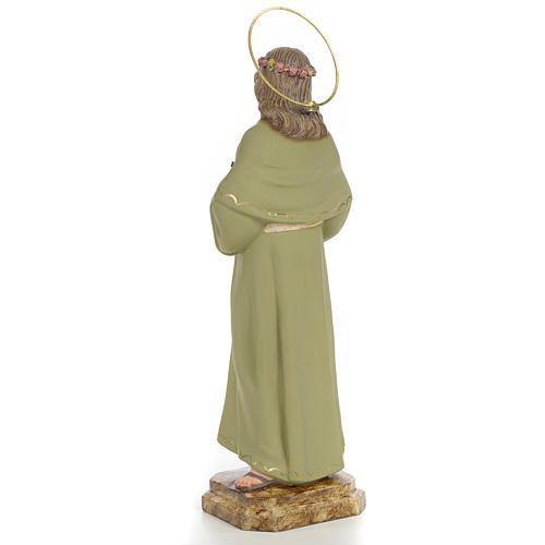 Santa Rosalia 40 cm pasta di legno dec. fine 3