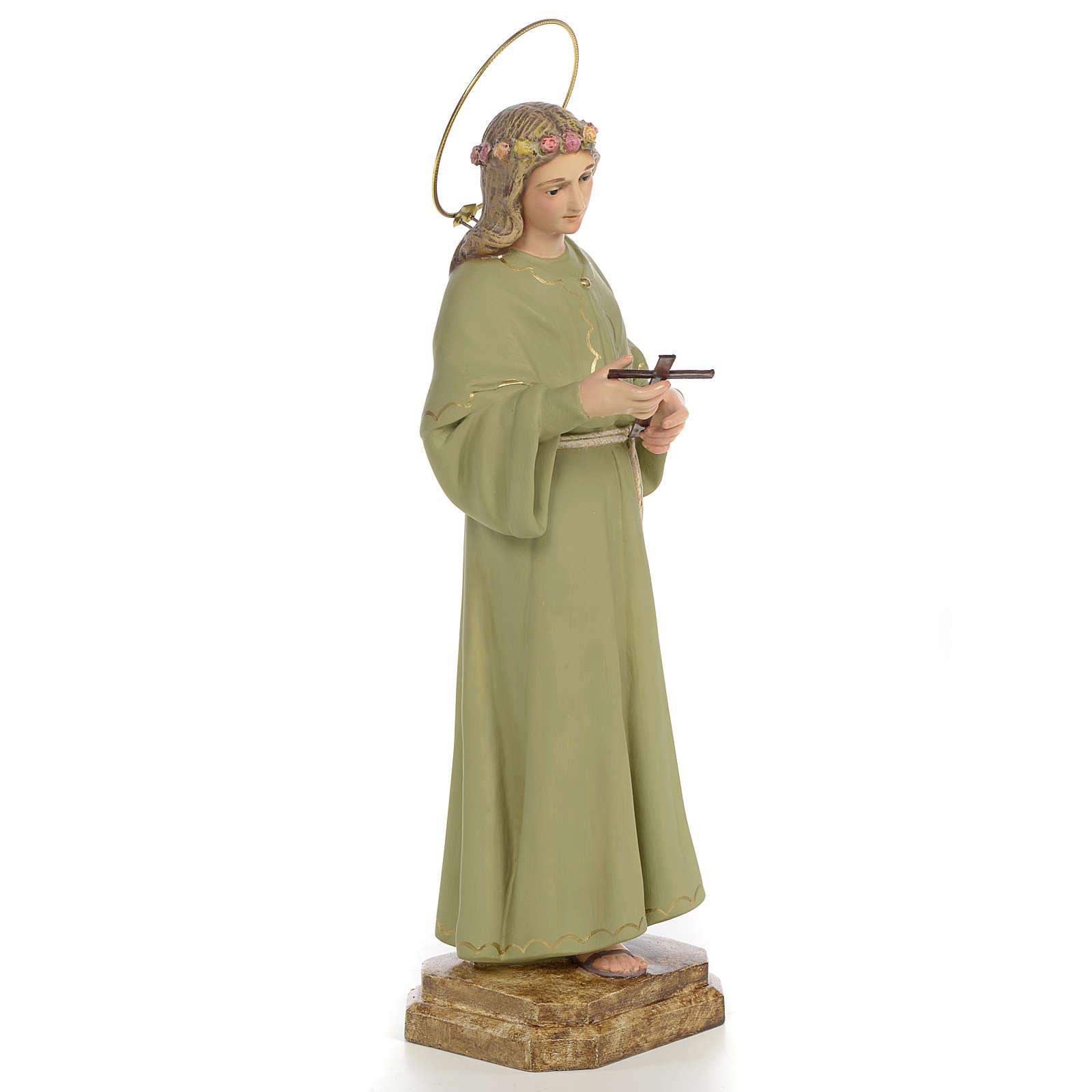 Saint Rosalia Statue in wood paste, 40 cm 4