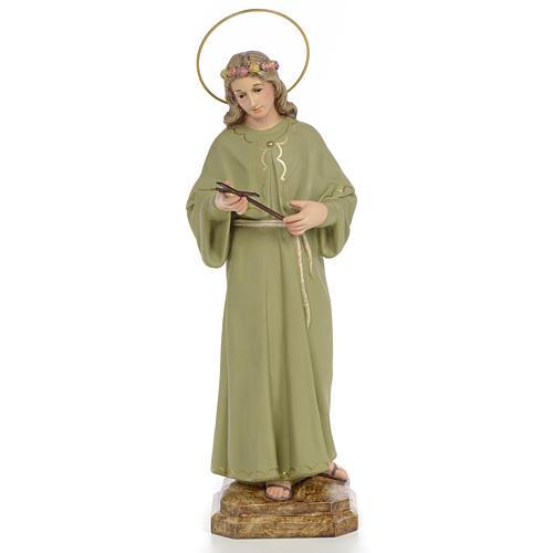 Saint Rosalia Statue in wood paste, 40 cm 1