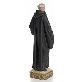 San Benedetto Abate 30 cm pasta di legno dec. fine s3