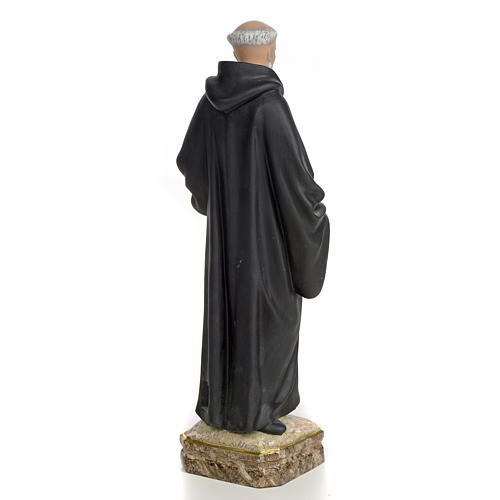 San Benedetto Abate 30 cm pasta di legno dec. fine 3