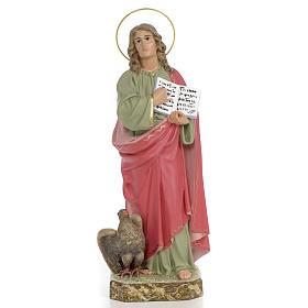 Statues en bois peint: Statue St Jean Evangéliste 40 cm pâte à bois