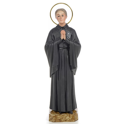 Santa Gemma Galgani 20 cm pasta di legno dec. fine 1
