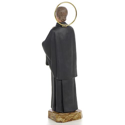 Santa Gemma Galgani 20 cm pasta di legno dec. fine 3