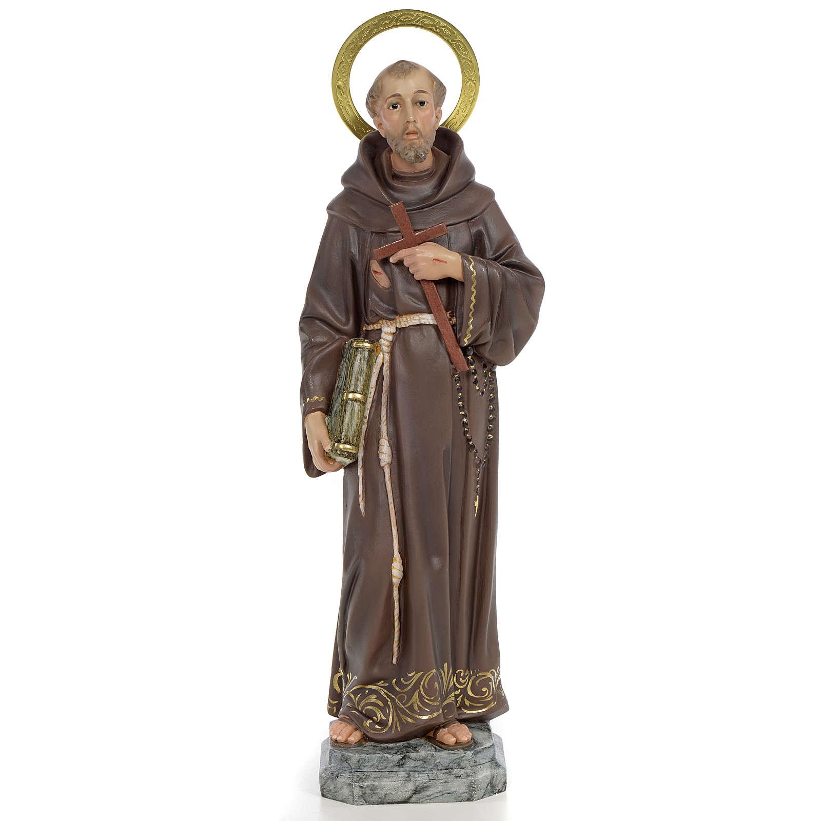 San Francesco D'Assisi 40 cm pasta di legno dec. elegante 4